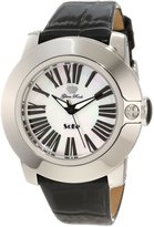 Glam Rock Women's GR31011 SoBe White Dial Black Shiny Patent Leather Watch