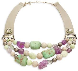 Alexis Bittar Multistone Tiered Bib Necklace