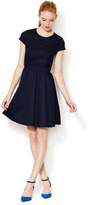 Cynthia Steffe Leah Lace Panel Fit and Flare Dress