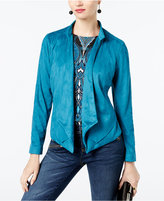 INC International Concepts Draped Faux-Suede Blazer, Created for Macy's