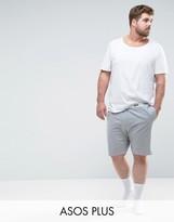 Asos Plus Jersey Pyjama Short With Branded Waistband
