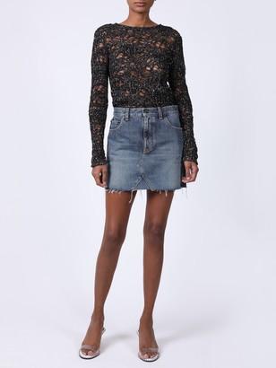 Saint Laurent Blue Denim Mini Skirt