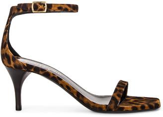 Saint Laurent Lexi Ankle Sandals in Manto Naturale Caffe | FWRD