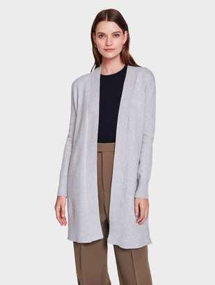 White + Warren Italian Plush Melange Open Long Cardigan