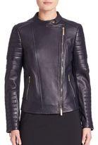 BOSS Sahena Leather Moto Jacket