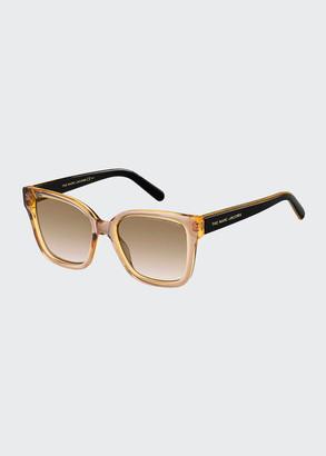Marc Jacobs Square Two-Tone Acetate Sunglasses