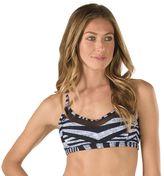 Speedo Women's Striped Mesh Bikini Top