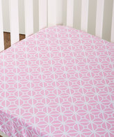 CoCalo Pink Lattice Audrey Fitted Crib Sheet