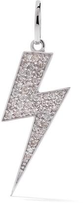 As 29 18kt White Gold Pave Diamond Flash Pendant