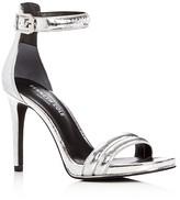 Kenneth Cole Brooke Metallic Embossed High Heel Sandals