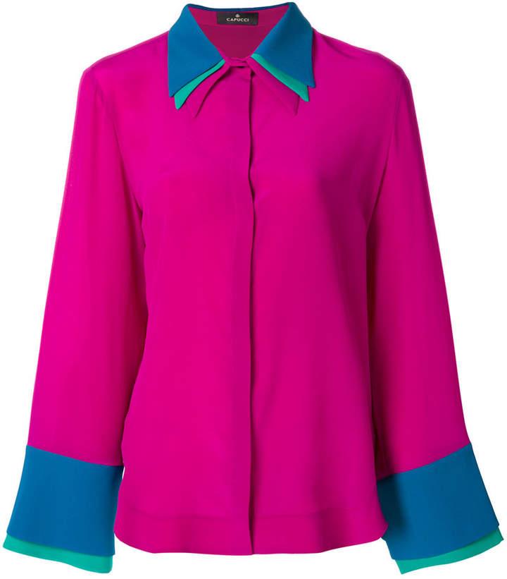 Capucci layered collar shirt