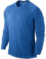 Nike Men's Dri-Fit Miler UV Long Sleeve Reflective Running Shirt (S)