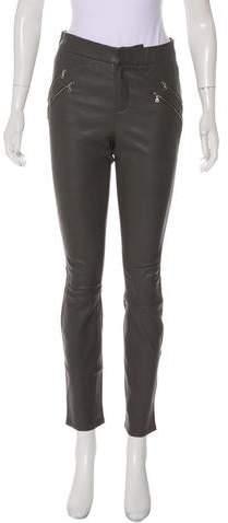 22cfbb66c7 Gray Leather Pants - ShopStyle