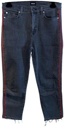 Hudson Black Cotton Jeans for Women