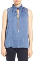 MICHAEL Michael Kors Women's Ruffle Chain Neck Top