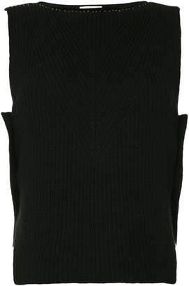 Onefifteen Stud Detail Sleeveless Knitted Top