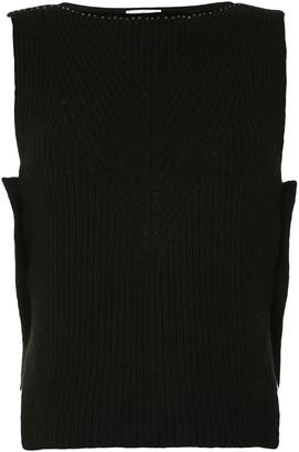 Onefifteen Stud Detail Sleeveless Knitted Top