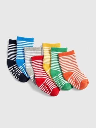 Gap Baby Stripe Crew Socks (7-Pack)