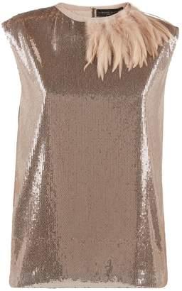 Fabiana Filippi Embellished Feather Top