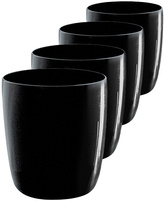 Artland Midnight Black Double Old Fashioned Glass - Set of Four