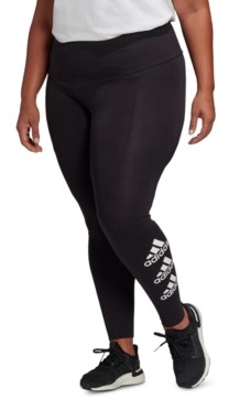 adidas Plus Size Essentials Stacked-Logo Tights