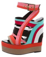 Pierre Hardy Woven Multistrap Wedge Sandals