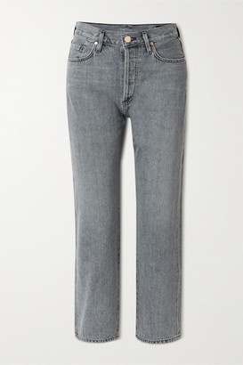 Gold Sign Net Sustain The Relaxed Straight Mid-rise Straight-leg Jeans - Gray
