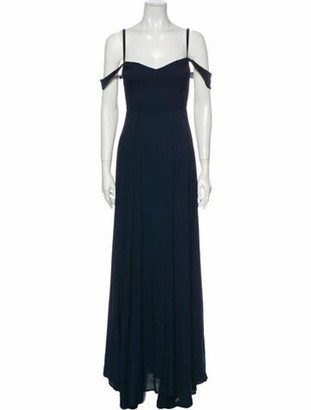 Reformation Square Neckline Long Dress Blue