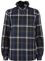 Claudie Pierlot Tartan Frill Collar Shirt