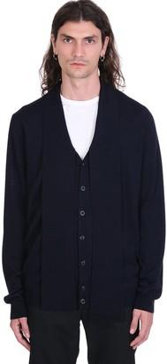 Maison Margiela Cardigan In Blue Wool