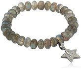 Azaara Star Pave Champagne Diamond and Labradorite Charm Stretch Bracelet (1/2cttw, I2-I3 Clarity), 3""