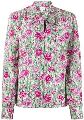 Giambattista Valli Silk Floral Print Blouse