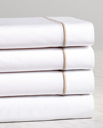 Frette One Bourdon Khaki Line Sheet Set