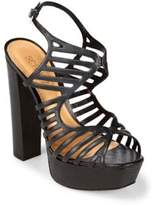 Schutz Diaha Leather Platform Sandals