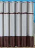 Bedford Home Claridge Embroidered Shower Curtain with Grommets