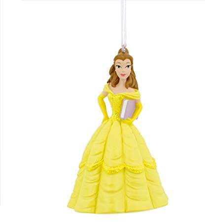 Hallmark Disney Beauty and The Beast Belle with Book Ornament Movies & TV