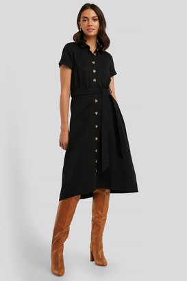 Trendyol Button Detailed Belt Midi Dress
