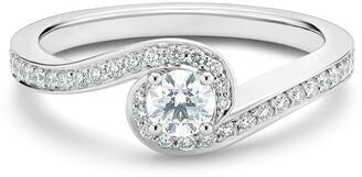 De Beers platinum My First Caress round brilliant diamond ring
