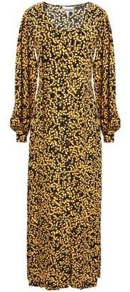 Ganni Floral-print Crepe Maxi Dress