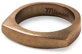 Miansai Men's Brushed Golden Round Ring