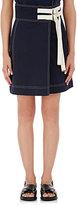Marni Women's Cotton-Linen Wrap-Front Skirt-NAVY