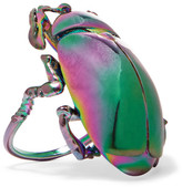 Balenciaga Beetle Iridescent-tone Ring - Gunmetal