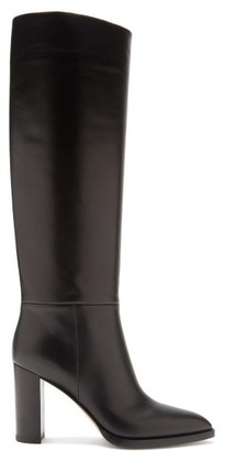 Gianvito Rossi Melissa 85 Leather Knee-high Boots - Black