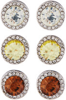 Fragments for Neiman Marcus Round Crystal Stud Earring Trio, Set of Three, Yellow