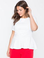 ELOQUII Plus Size Short Sleeve Ponte Top