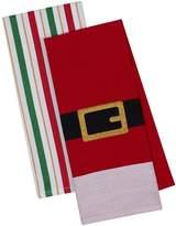 Design Imports Santa Belt Dish Towels (Set of 2)