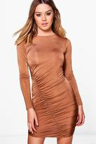 boohoo Petite Charlotte Ruched Detail Bodycon Dress