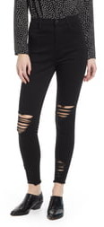 Tinsel High Waist Ripped Skinny Jeans