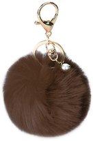 ILOVEDIY Rabbit Fur Fluffy Pom Pom Plush Keychian Ball for Women Girls