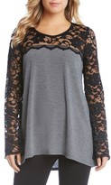 Karen Kane Women's Lace Sleeve Sweater
